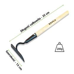 Motyczka czarna metalowa 35 cm